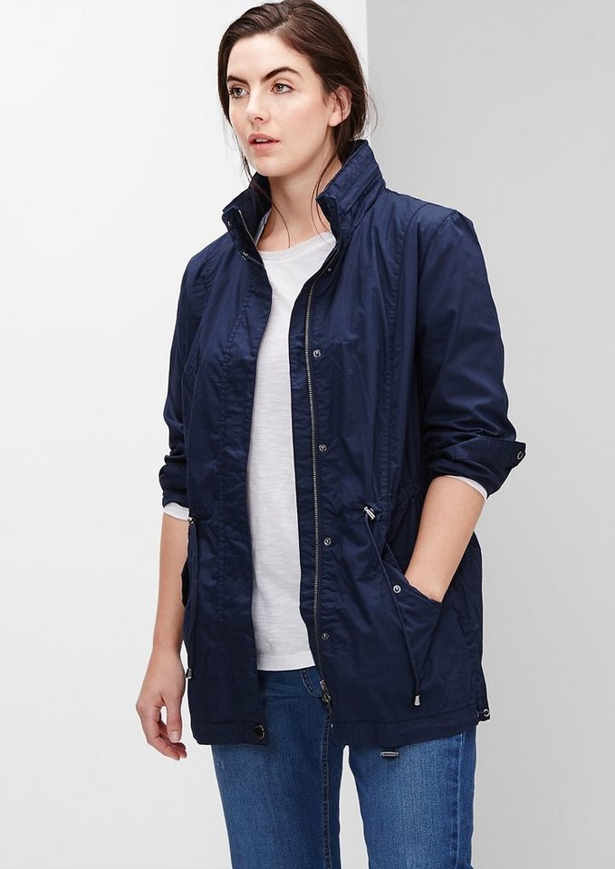 TRIANGLE Leichter Parka mit Tunnelzug in ink blue