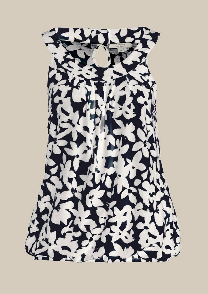 COMMA Sommerliches Top mit charmantem Muster in blue floral print