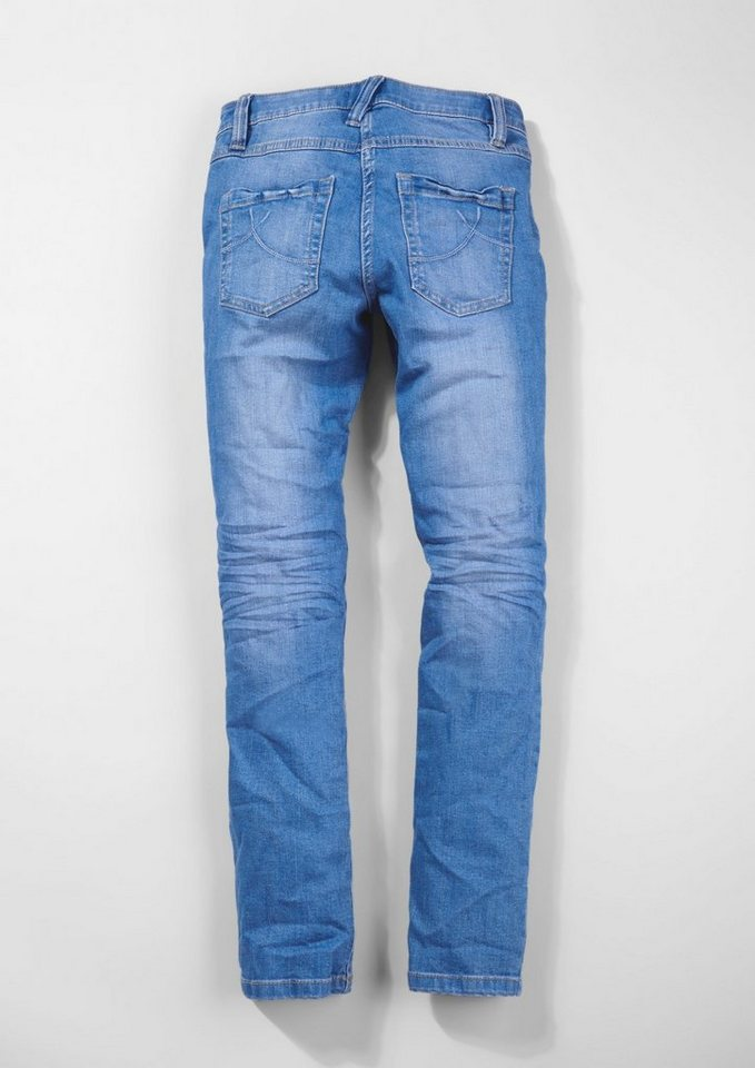 s.Oliver RED LABEL Junior Skinny Suri: Electric Blue-Jeans für Mädchen in electric blue