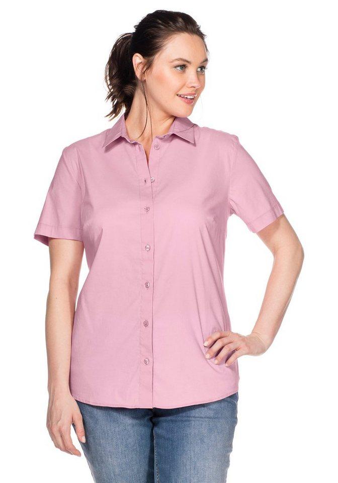 sheego Casual BASIC Stretch-Bluse mit kurzem Arm in rose