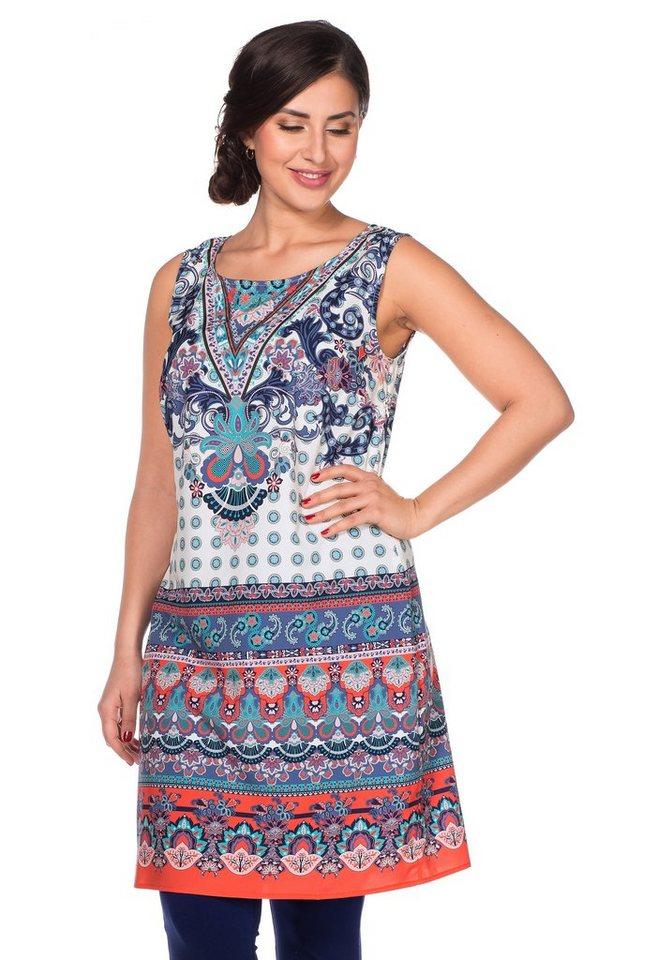 sheego Style Kleid in nachtblau bedruckt
