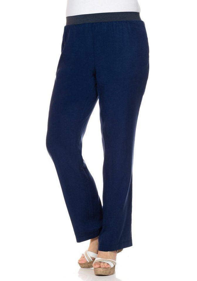 sheego Style Weite Schlupfhose in nachtblau