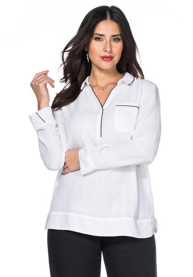 sheego Trend Tunika in weiß
