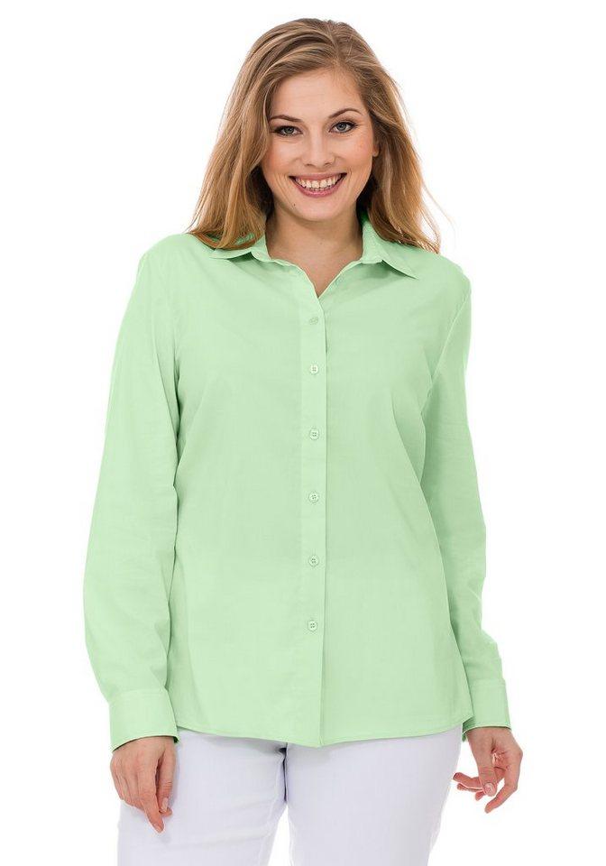 sheego Casual BASIC Stretch Bluse in apfelgrün
