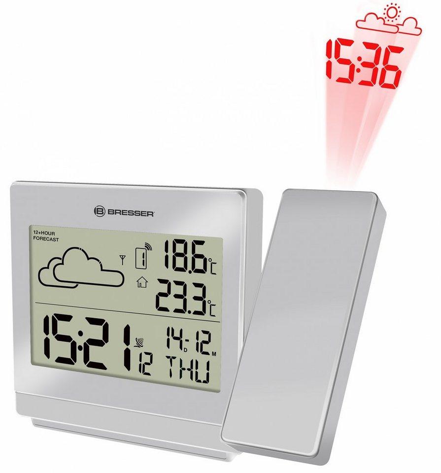 Bresser Wetterstation »BRESSER Projektions-Funkwetterstation TemeoTrend P« in silver