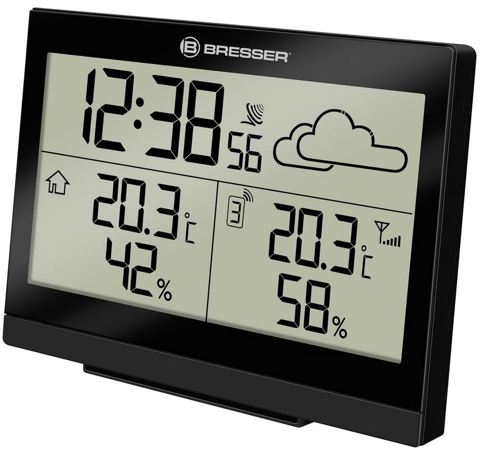 Bresser Wetterstation »BRESSER TemeoTrend LG Funkwetterstation« in schwarz