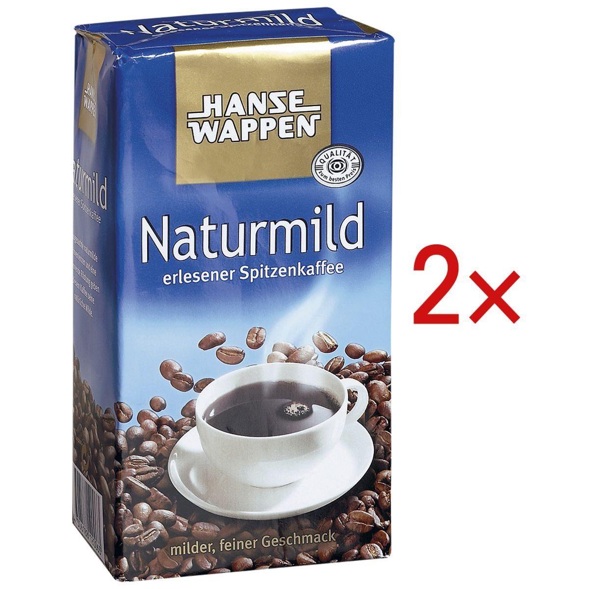 HANSEWAPPEN 2 Packungen Kaffeemischung »Naturmild« 1 Set