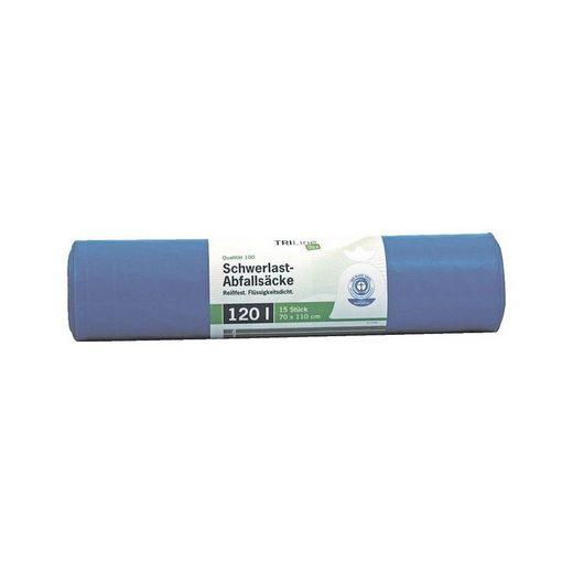 SECOLAN 15 Schwerlast-Müllsäcke 120 L blau