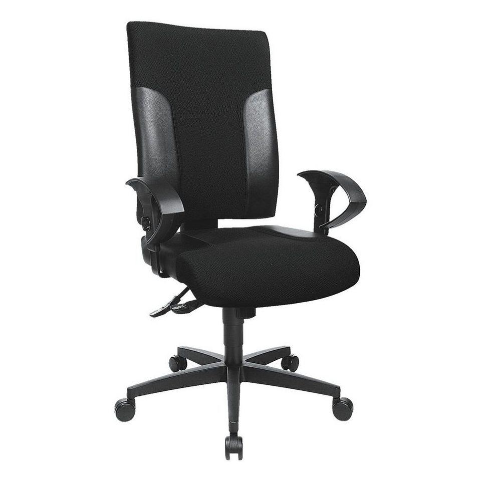 Topstar Bürostuhl »Two 20« ohne Armlehnen in schwarz-schwarz