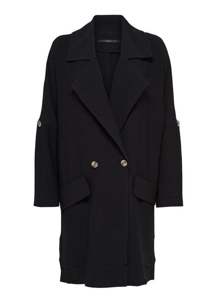 Only Lange Oversize- Jacke in Black