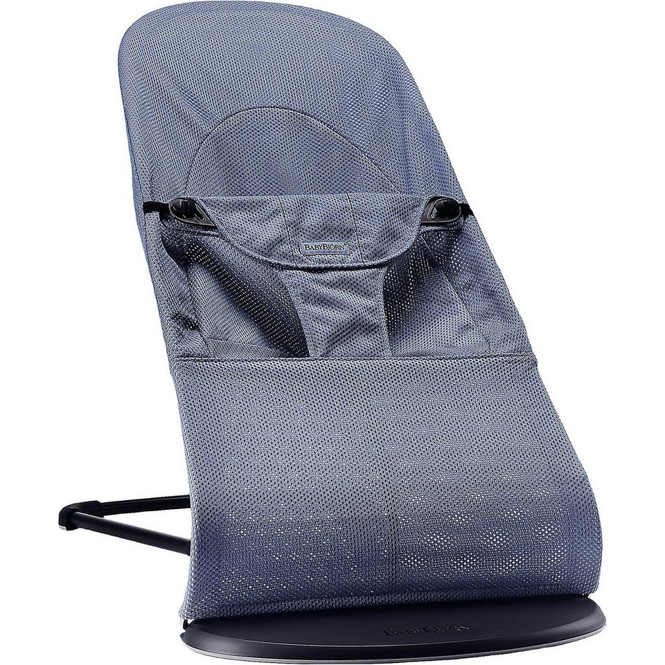 BabyBjörn Babywippe Balance Soft, Great blue whale, Mesh in dark blue