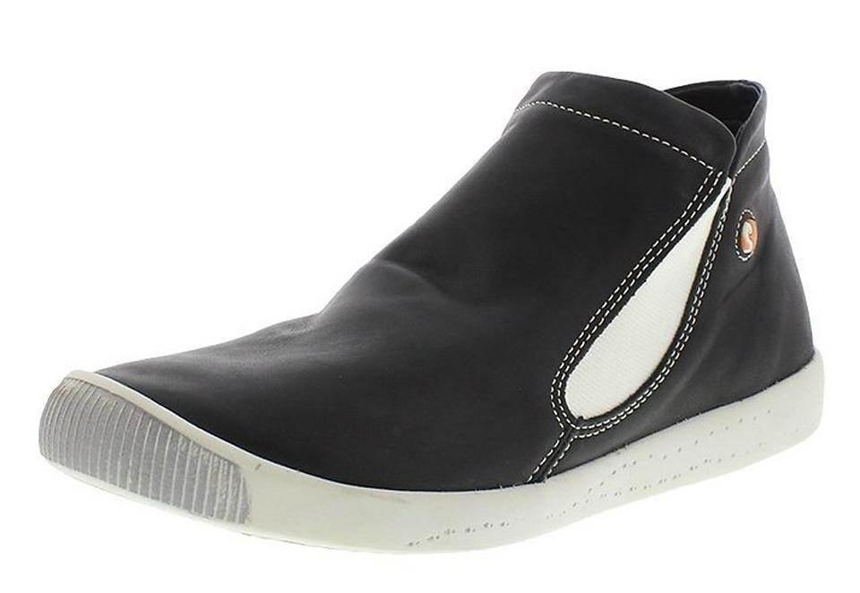 softinos sportlicher Halbschuh »Inge smooth leather« in schwarz