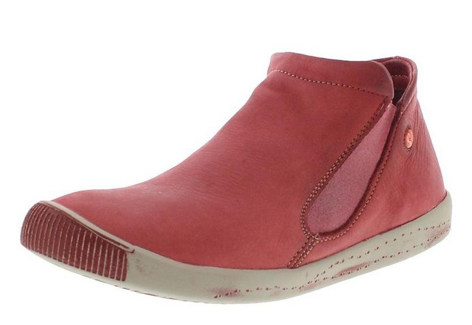 softinos sportlicher Halbschuh »Inge washed leather SS16« in rot