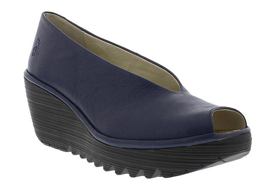 FLY LONDON Keilpump »Yury mousse« in blau