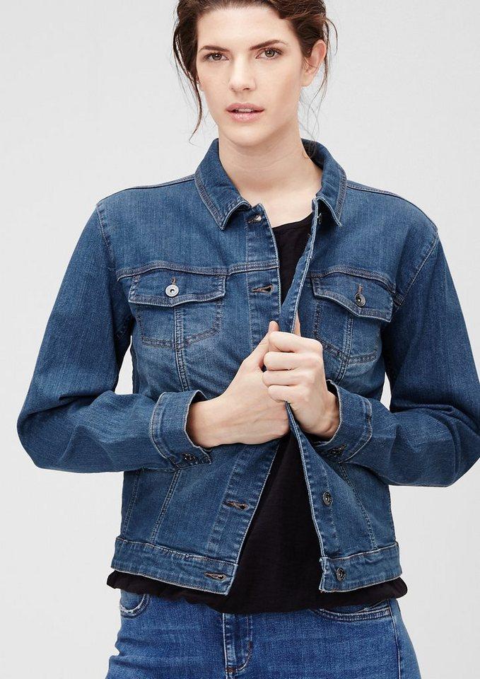 TRIANGLE Klassische Jeansjacke in blue denim stretch