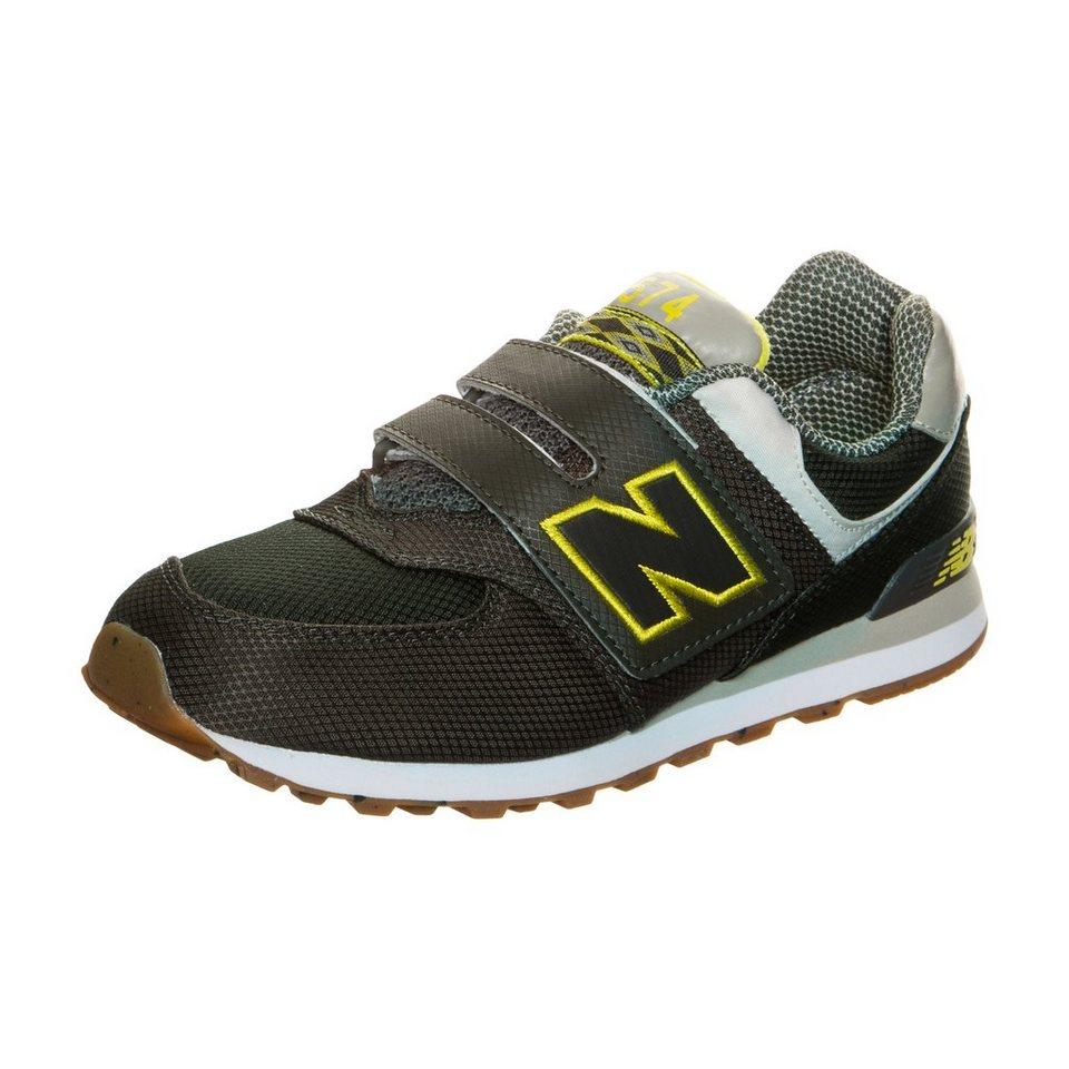 NEW BALANCE KV574-E8Y-M Sneaker Kinder in oliv / gelb / grau