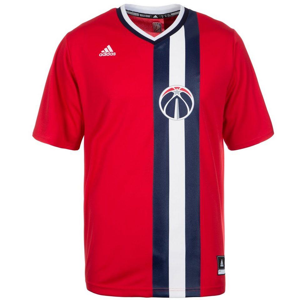 adidas Performance Washington Wizards T-Shirt Herren in rot / blau / weiß