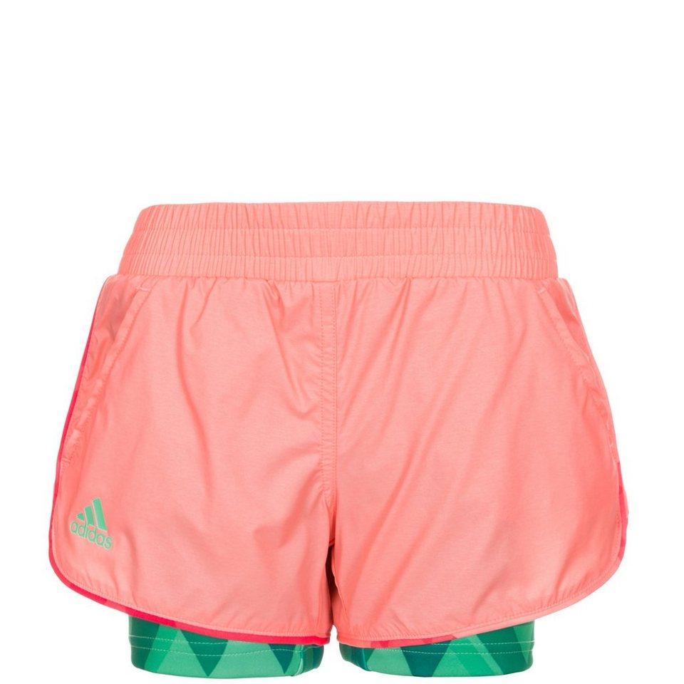 adidas Performance Club Tennisshort Kinder in rosa / grün