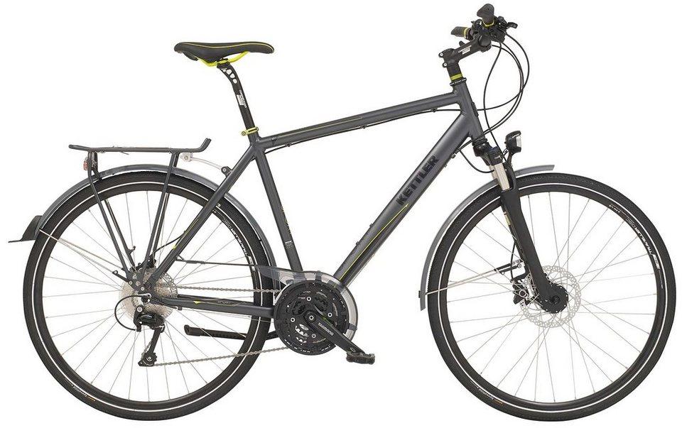 Kettler Trekking Bike Herren, 28-Zoll, 30-Gang Shimano, Freilauf, »Traveller 7 Sport« in granite, matt
