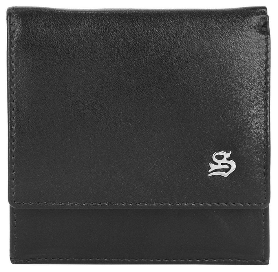 SZUNA Leder Herren Mini Geldbörse in schwarz
