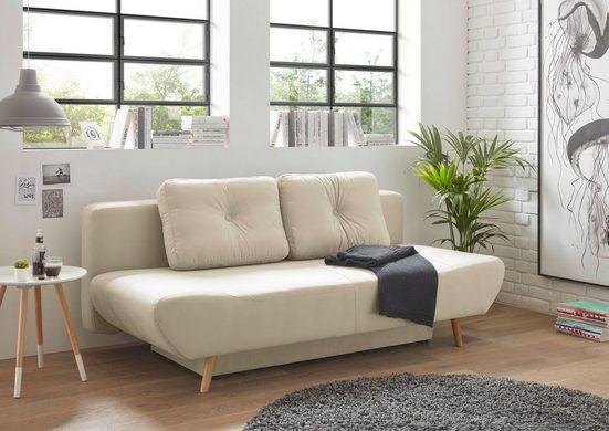 COUCH♥ 2-Sitzer »Klappt gut«, mit Bettfunktion und Bettkasten