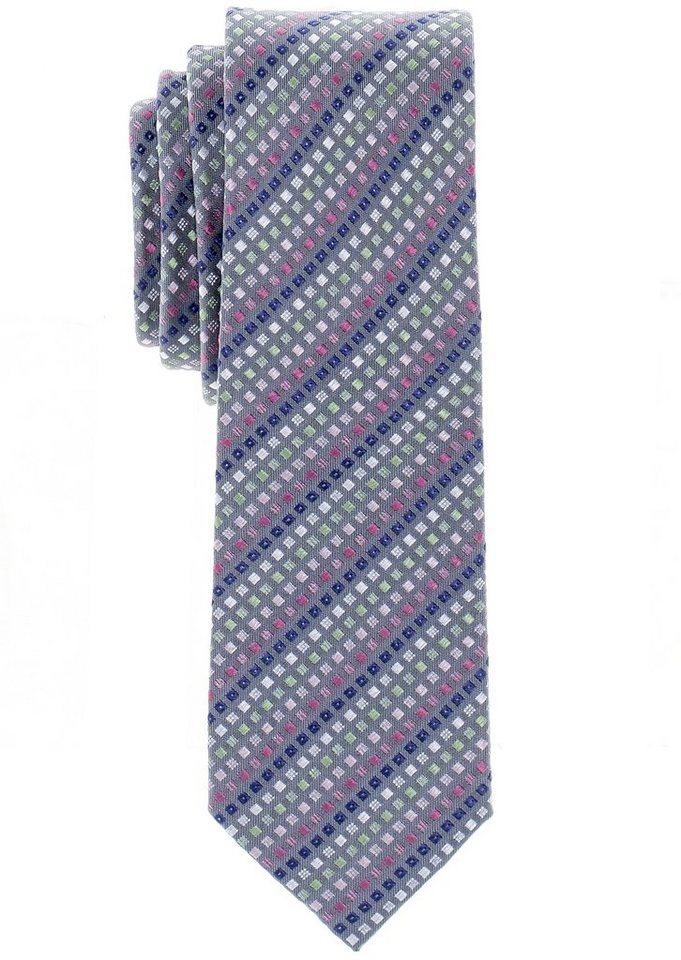 ETERNA Krawatte »schmal« in grau, bunt gemustert