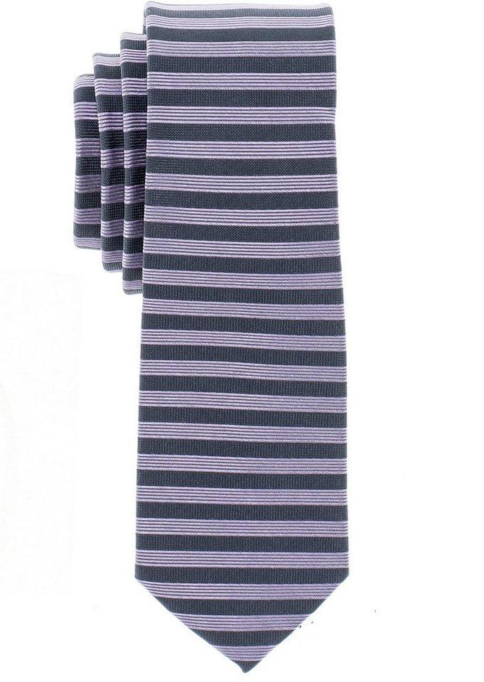 ETERNA Krawatte »schmal« in rosé/grau