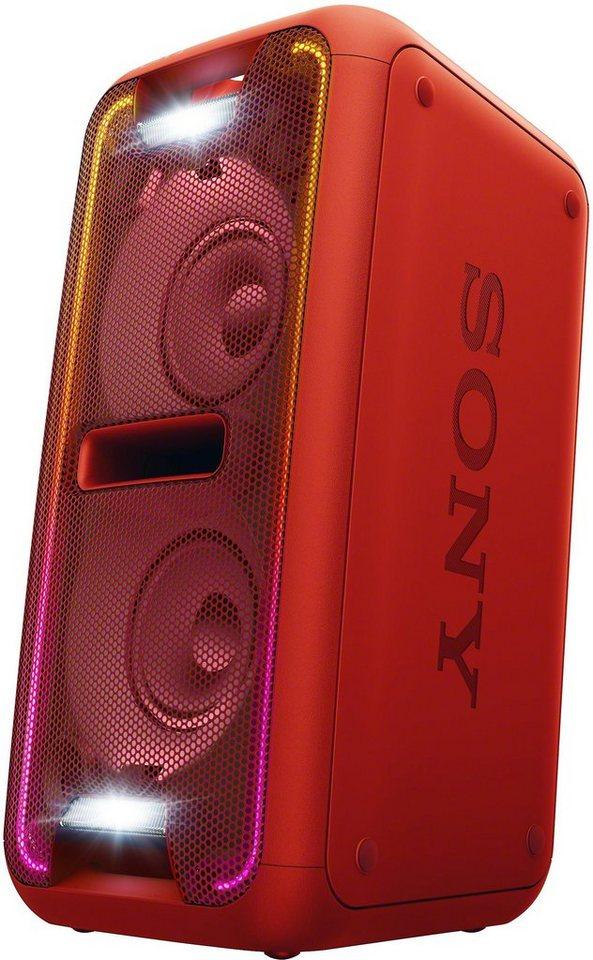 Sony Party-Lautsprecher GTK-XB7, Bluetooth, NFC, 1x USB in rot