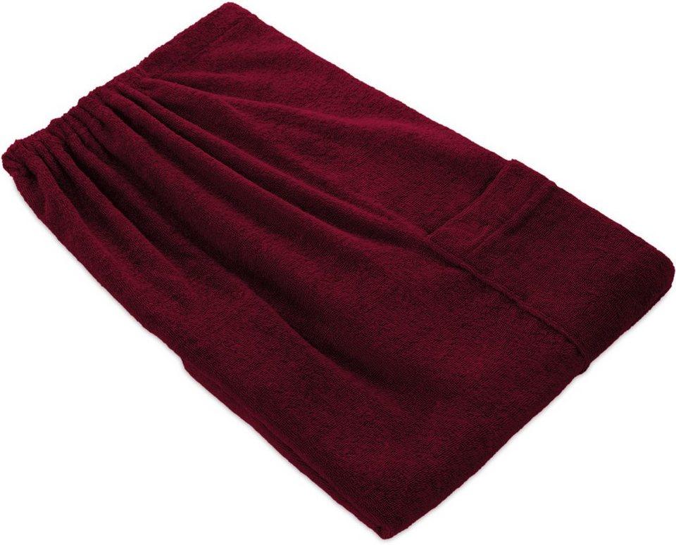 Sarong, Möve, »Superwuschel«, mit aufgesetzter Tasche in rot