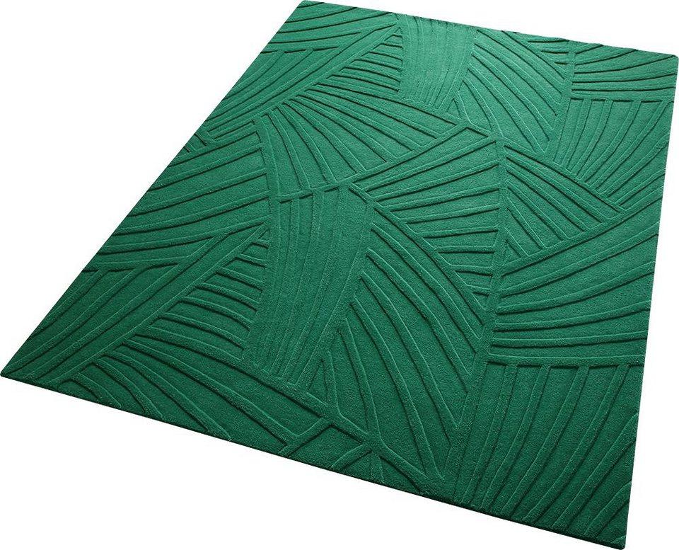 Teppich, ESPRIT, »Palmia«, reine Schurwolle, handgetuftet in grün