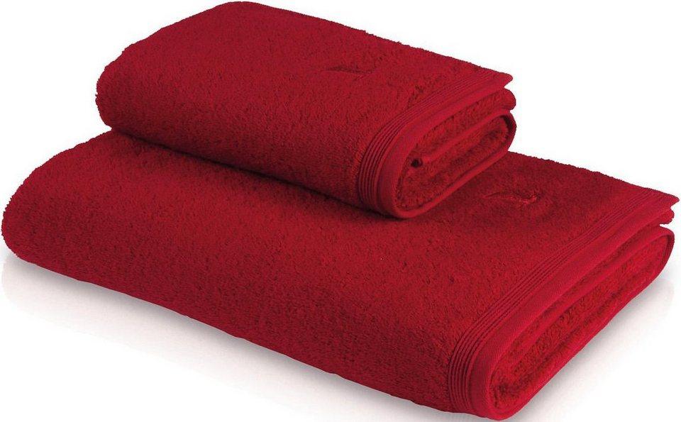 Saunatuch, Möve, »Superwuschel«, in flauschiger Qualität in ruby