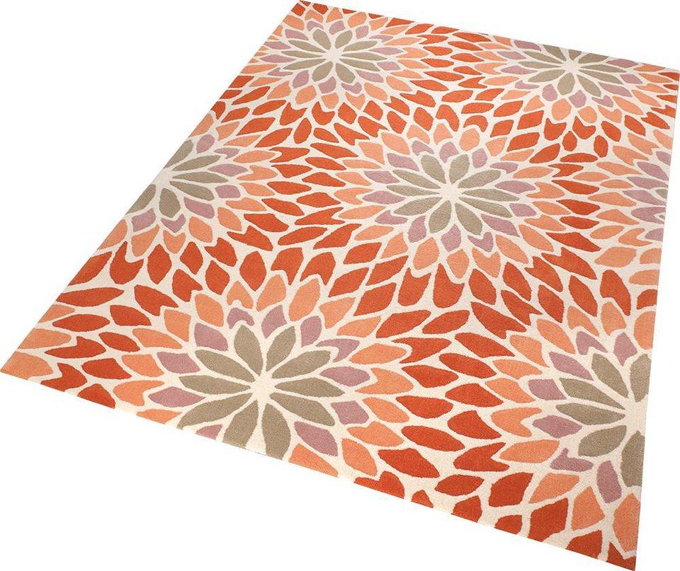 Teppich, ESPRIT, »Lotus«, handgetuftet in orange