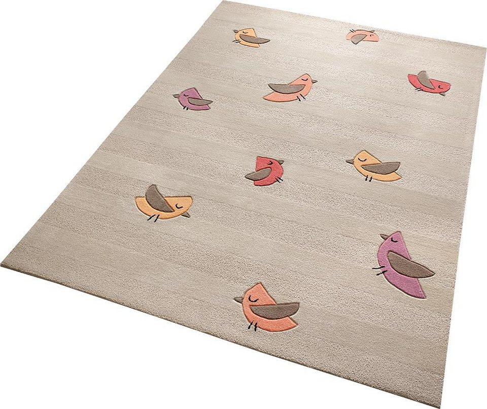 Kinderteppich blau beige  Kinderteppich »Birdie«, ESPRIT, rechteckig, Höhe 10 mm online ...