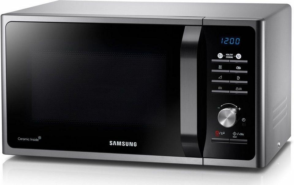 Samsung Mikrowelle MG23F301TAS/EG, mit Grill, 23 Liter Garraum, 800 Watt in Silber