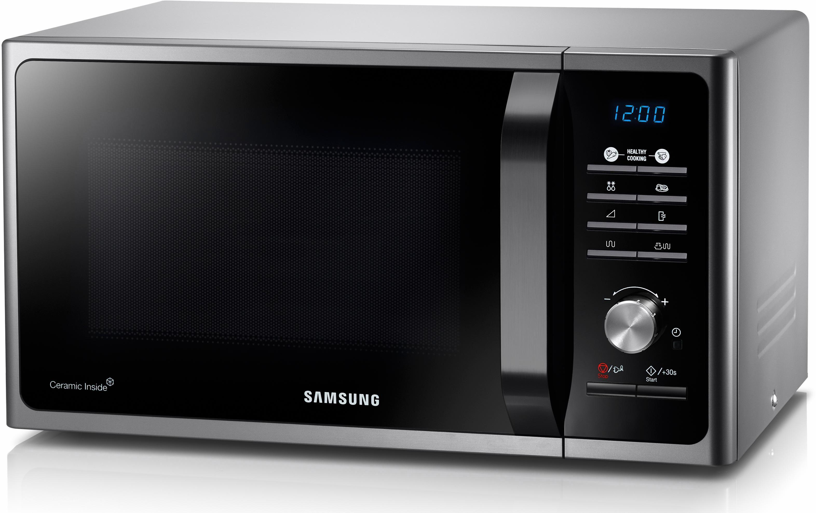 Samsung Mikrowelle MG23F301TAS/EG, mit Grill, 23 Liter Garraum, 800 Watt