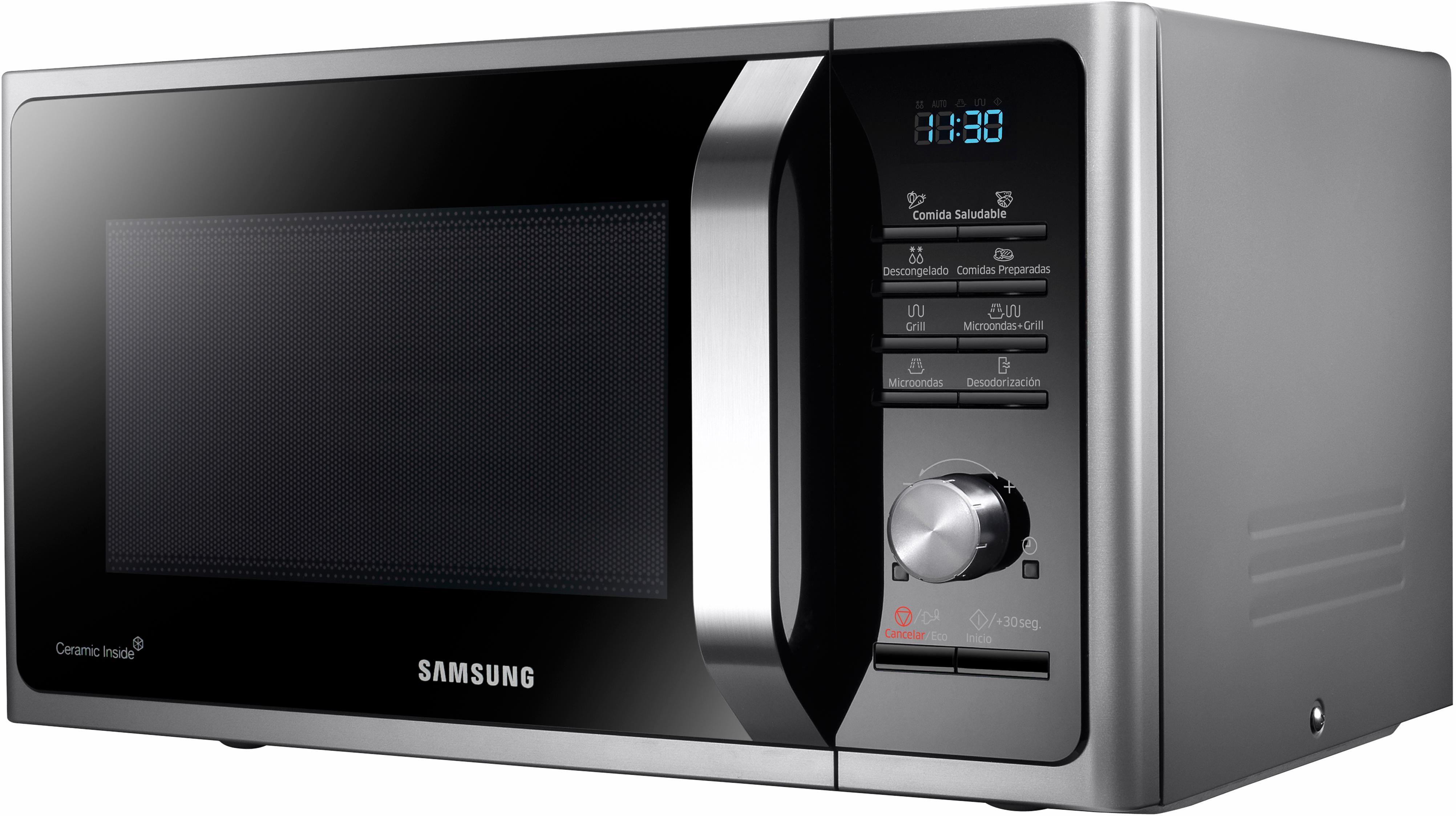 Samsung Mikrowelle MG28F303TCS/EG, mit Grill, 28 Liter Garraum, 900 Watt