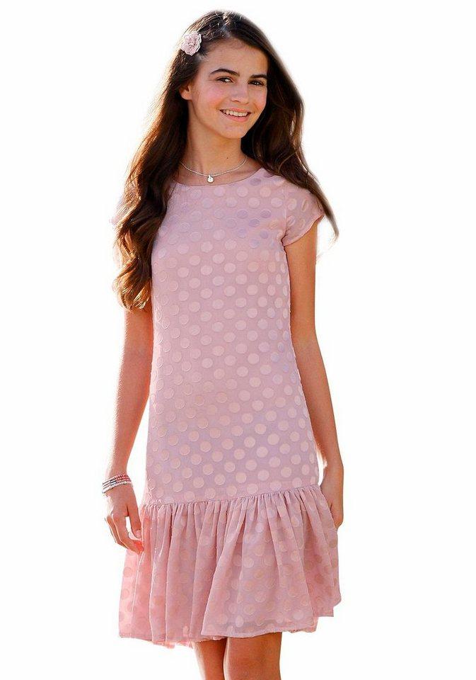 KIDSWORLD Volantkleid für den festlichen Anlass in rosa