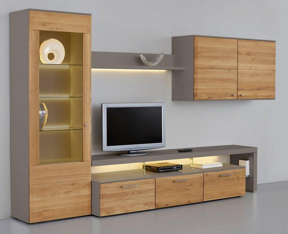 netfurn by gwinner wohnwand solano lack fango 4 tlg online kaufen otto. Black Bedroom Furniture Sets. Home Design Ideas