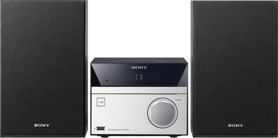 Sony CMT-SBT20B Microanlage, Bluetooth, NFC, Digitalradio (DAB+), RDS, 1x USB in schwarz/silberfarben