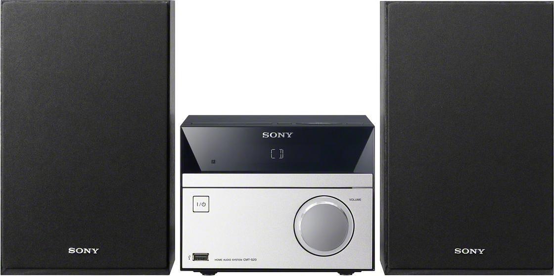 Sony CMT-SBT20B Microanlage, Bluetooth, NFC, Digitalradio (DAB+), RDS, 1x USB