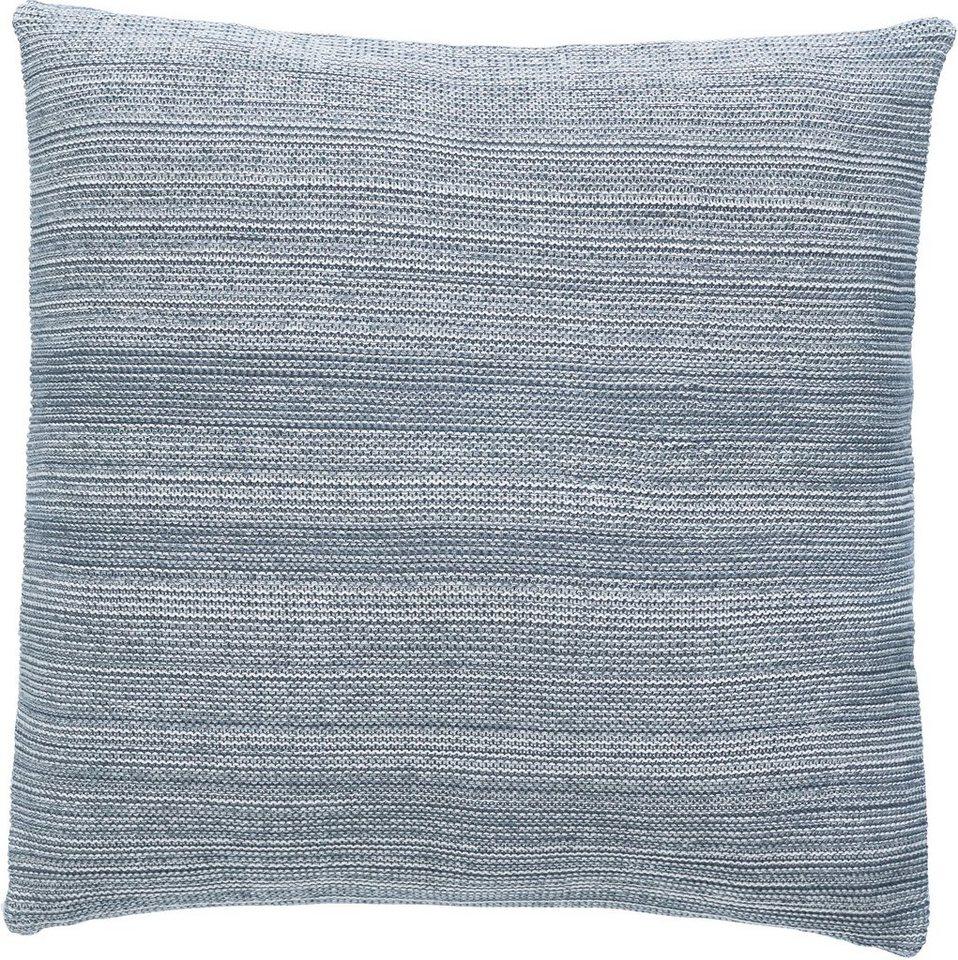 Dekokissen, Marc O'Polo Home, »Melange knit«, Strick-Optik in grau