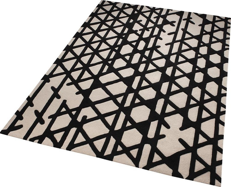 Teppich, ESPRIT, »Artisan Pop«, reine Schurwolle, handgetuftet in schwarz