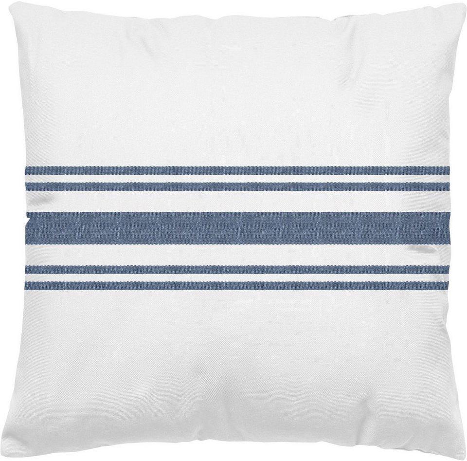 Dekokissen, Marc O'Polo Home, »Linen stripe«, mit Streifen in blau