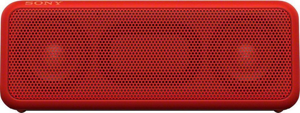 Sony SRS-XB3 tragbarer kabelloser wasserfester Lautsprecher, Bluetooth,NFC, USB mit Freisprechfunktion in rot