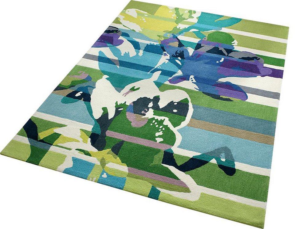 Teppich, ESPRIT, »Floria«, handgetuftet in grün