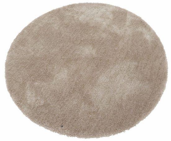 Hochflor-Teppich »Soft«, TOM TAILOR, rund, Höhe 35 mm