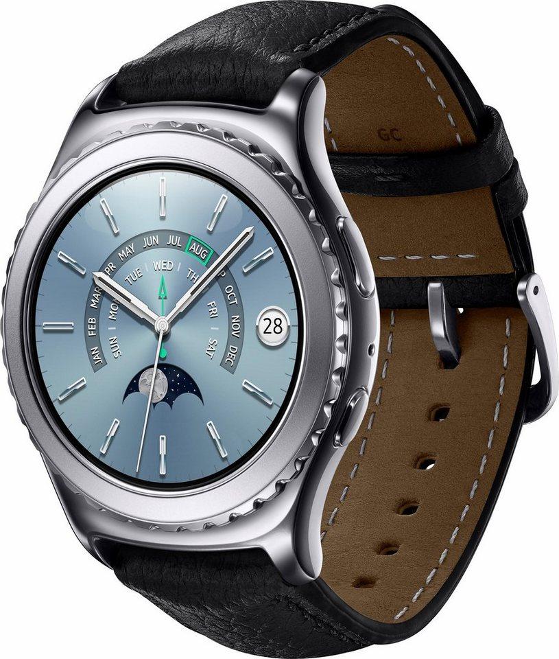 Samsung Gear S2 Premium Smartwatch, Tizen, 3,05 cm (1,2 Zoll) Super AMOLED-Touchscreen Display in Silberfarben
