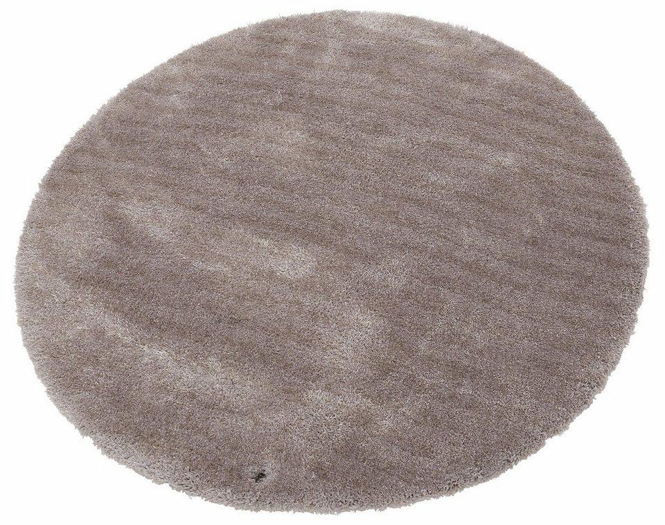 Teppich rund beige  Hochflor-Teppich, rund, Tom Tailor, »Soft«, Höhe 35 mm ...