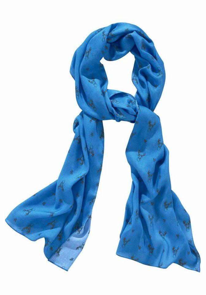 J. Jayz Modeschal »mit Hirschköpfen« in blau