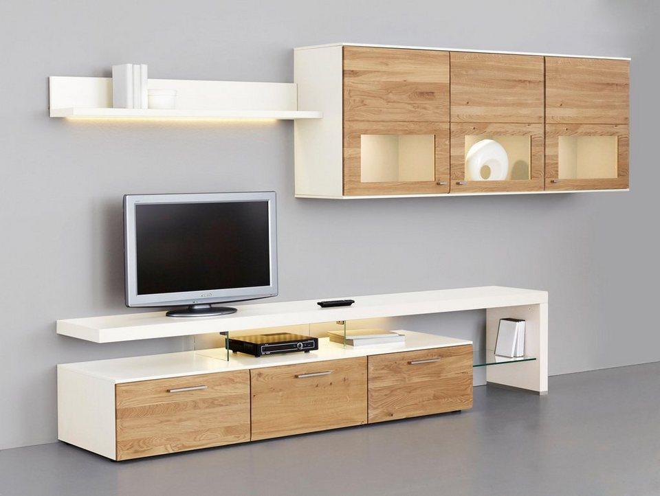 netfurn by gwinner wohnwand solano lack wei 3 tlg. Black Bedroom Furniture Sets. Home Design Ideas